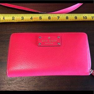 Kate Spade hot pink wallet